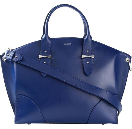 Preload https://img-static.tradesy.com/item/3506590/alexander-mcqueen-medium-legend-zip-blue-leather-satchel-0-1-540-540.jpg
