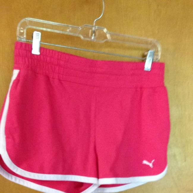 Puma Shorts Pink with White Trim