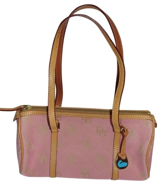 Item - Summer Tote Leather Pink Canvas Satchel