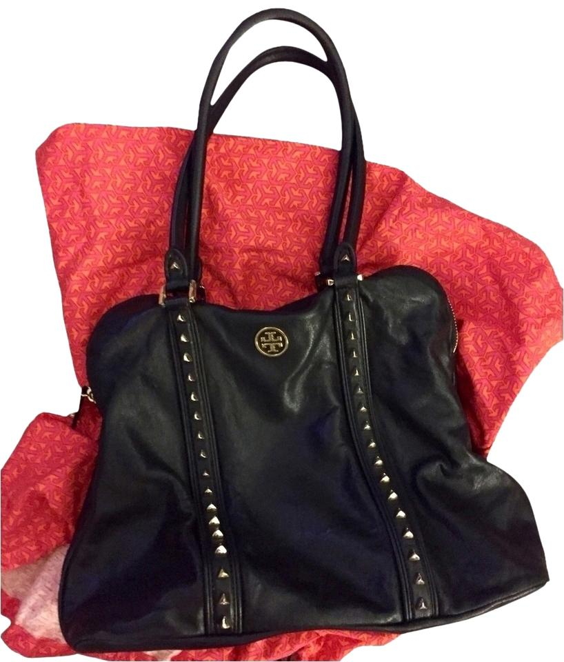 cc3d629a9992 Tory Burch Pyramid Studded Leather Tote in Black Image 0 ...