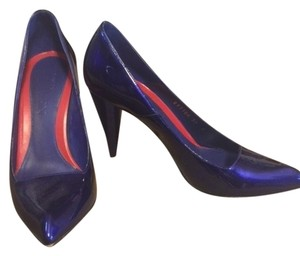 Alexander McQueen Patent Leather Gucci Prada Christian Louboutin Royal Blue Pumps