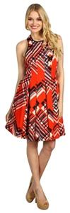 Jessica Simpson short dress Red Multi on Tradesy