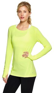 Gap Gap Gapfit Breathe Long Sleeve Tee Top - Neon Canary Yellow NWT $29.95 Large size 12 - 14