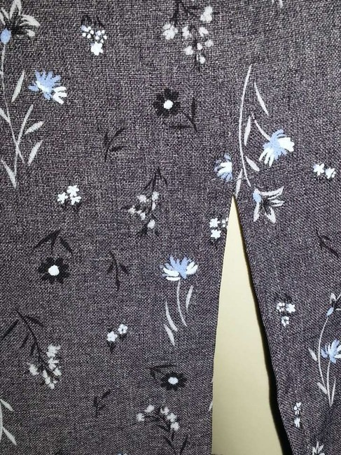 No Boundaries short dress gray with blue & black flowers on Tradesy