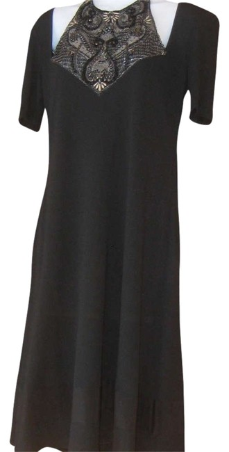 Preload https://item2.tradesy.com/images/badgley-mischka-black-knee-length-cocktail-dress-size-8-m-350861-0-3.jpg?width=400&height=650
