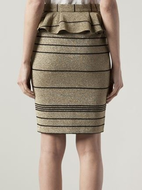Patrizia Pepe Skirt Gold tone / Black