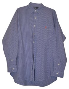 Polo Ralph Lauren Men's Men's Dress Shirt Button Down Shirt Blue