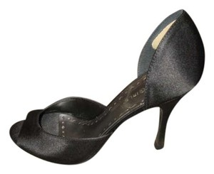 BCBGeneration Heels Small Size Satin Stylish Black Pumps