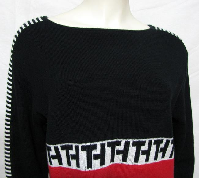Tommy Hilfiger Logo Th Knit 12 14 Cotton L Shirt Spellout Large Color Sweater
