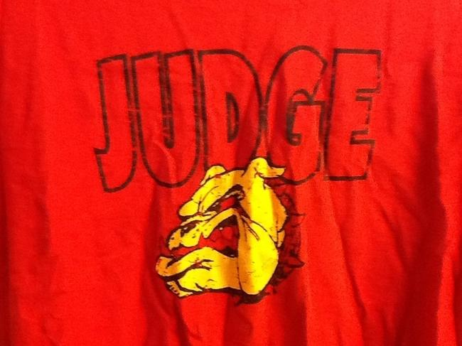 Preload https://item2.tradesy.com/images/red-judge-bulldog-tee-shirt-size-10-m-3510181-0-0.jpg?width=400&height=650