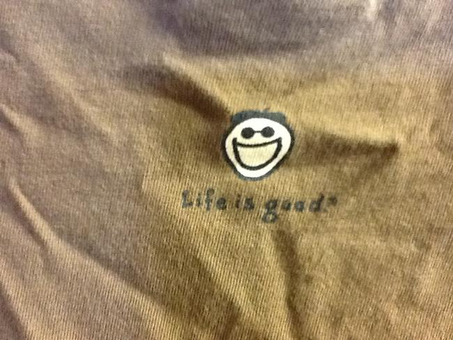 Life is Good Sleeve Comfortable Rocket Jake Summer Casual Loose Fit T Shirt Brown