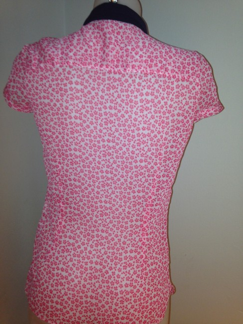 Zara Top Pink and White Floral