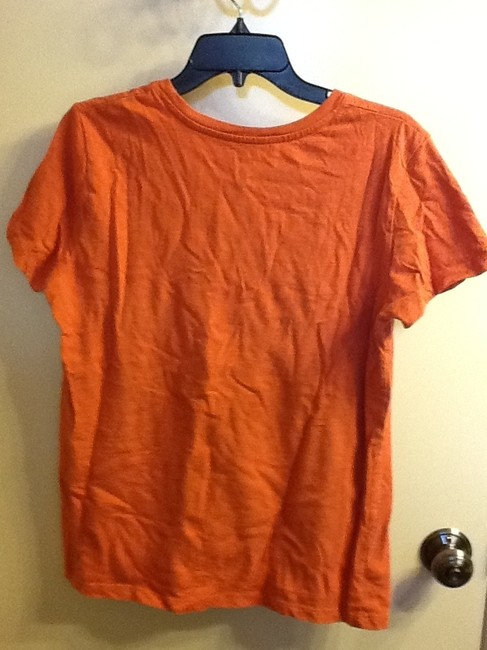 Sonoma Floral Comfortable Sleeve Loose Fit Summer Casual T Shirt Orange