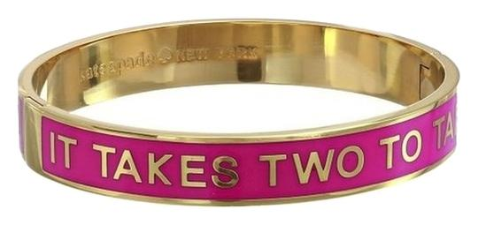 Preload https://item5.tradesy.com/images/kate-spade-12k-gold-pink-enamel-it-takes-two-to-tango-idiom-bangle-new-for-a-dancer-bracelet-3510619-0-0.jpg?width=440&height=440