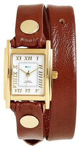 La Mer Collections Leather Wrap Watch, 19mm
