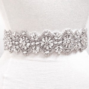 Crystal Rhinestone Wedding Belt - 18