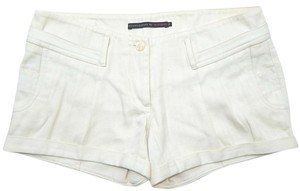 Development by Erica Davies Pleated Denim Cargo Cuffed Shorts Off-White