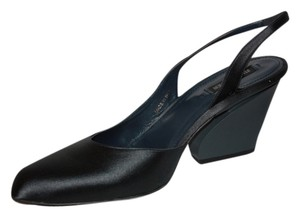Jil Sander Fabric Formal Slingback Grey Satin Pumps