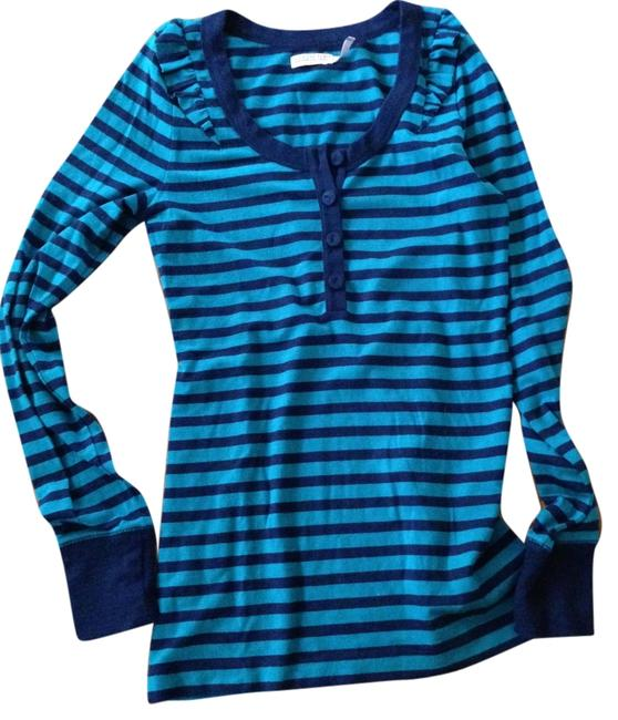 Preload https://img-static.tradesy.com/item/3511036/juicy-couture-navy-and-turquoise-stripes-sweaterpullover-size-6-s-0-0-650-650.jpg