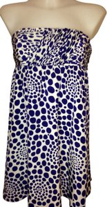 Alice + Olivia short dress Blue & White on Tradesy