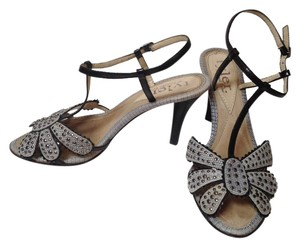 Richard Tyler gray/ silver/ black Sandals