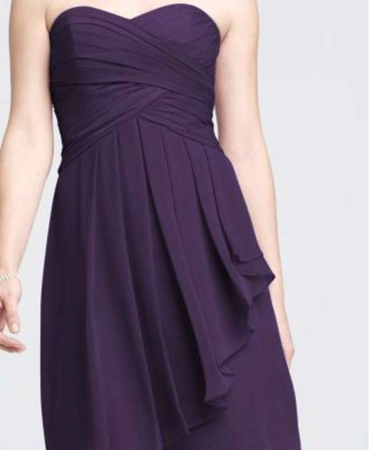 Item - Lapis - Purple Chiffon F14847 Modern Bridesmaid/Mob Dress Size 6 (S)