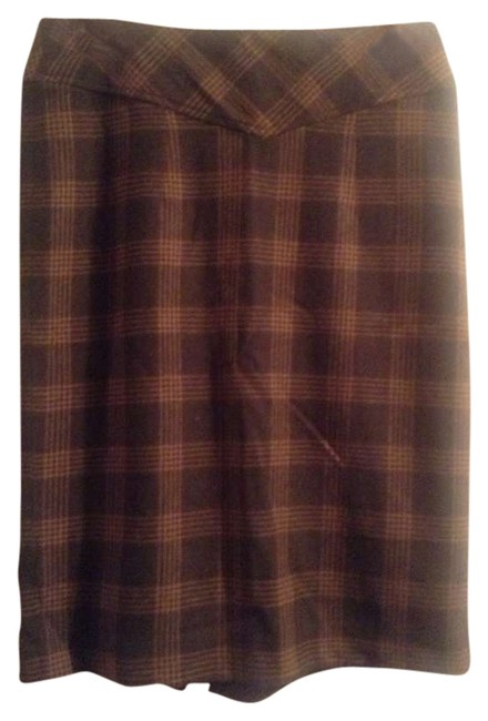 Banana Republic Skirt Green and brown plaid