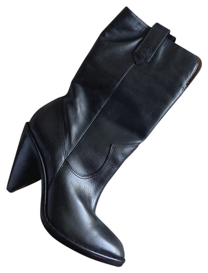 Michael Kors New Leather Cowboy black Boots