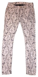 7 For All Mankind Skinny Pants Ivory Lace