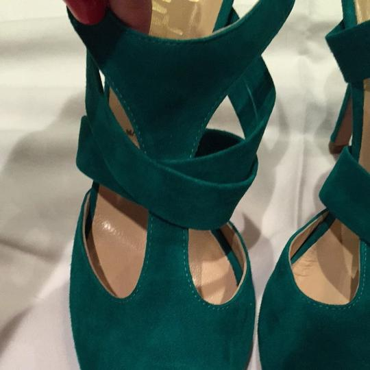 Butter Soft Suede Leather Green Pumps