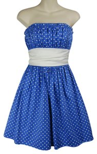 Betsey Johnson Polka Dot Babydoll Lolita Pinup Retro 50's Prom Full Flare Bustier Tea Party Dress