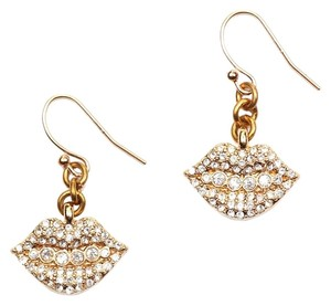 Lulu Frost Lulu Frost Le Baiser Drop Clear Earrings