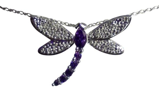 Other 925 sterling silver Dragonfly pendant and necklace