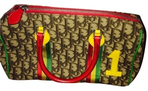 Dior Satchel in Brown with red, yellow and green