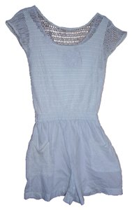 Bonnie Evans White Mesh Swim Cover-up/Romper. Size Small. 100% Cotton. Free Shipping