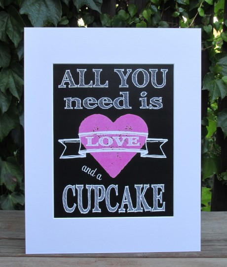 Two Cute Chalkboard Look Signs For Your Rustic Wedding-choose A Seat Not A Side & All You Need Is Love And A Cupcake