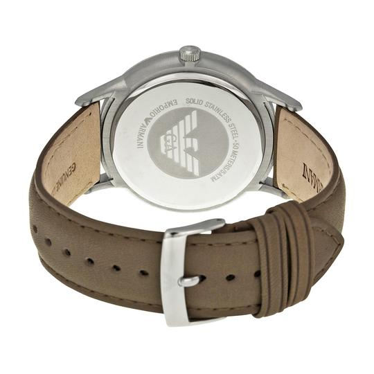 Emporio Armani Emporio Armani Men's Classic Taupe Leather Silver Tone Stainless Steel Watch AR2470