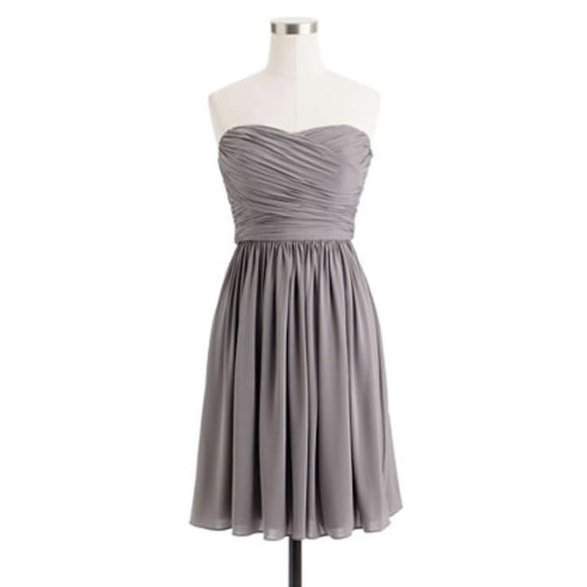 Item - Mercury Grey/Graphite Liquid Jersey Arabelle Formal Bridesmaid/Mob Dress Size 8 (M)