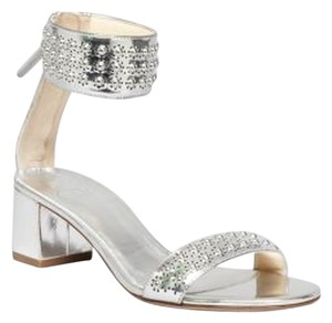 B Brian Atwood New Sandal Studded Silver Sandals