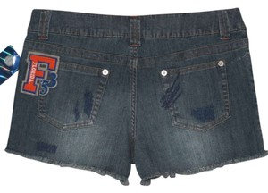 E5 College Classics Cut Off Shorts Denim Blue