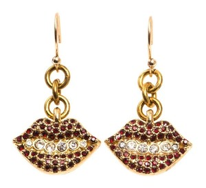 Lulu Frost Lulu Frost Le Baiser Red Crystal Earrings