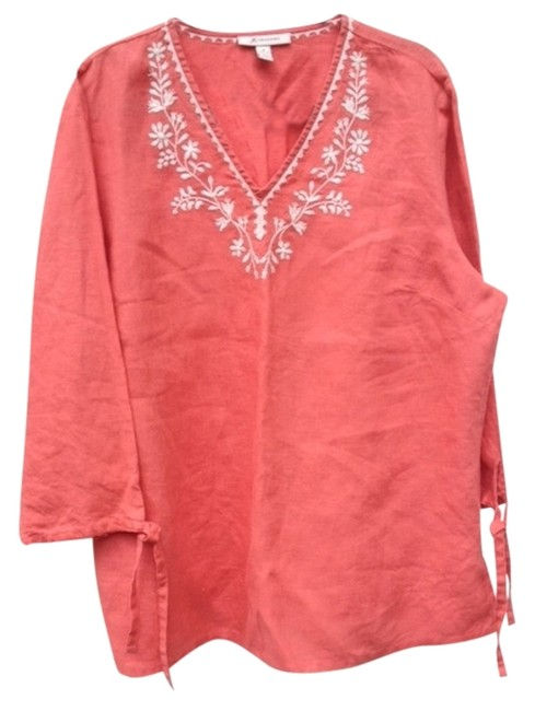 Preload https://item1.tradesy.com/images/jm-collection-orange-with-white-embroidery-tunic-size-18-xl-plus-0x-3514105-0-0.jpg?width=400&height=650