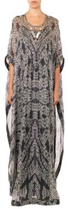 Maxi Dress by Diane von Furstenberg Silk Chiffon Embellished Kaftan Maxi