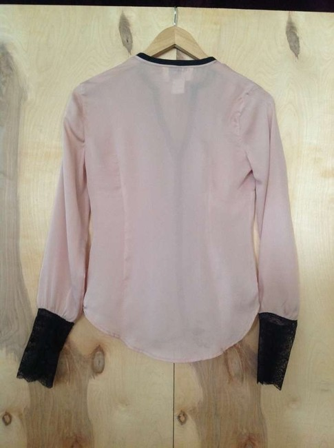 BB Dakota Bb Sheer Night Out Top Pale pink with black accents
