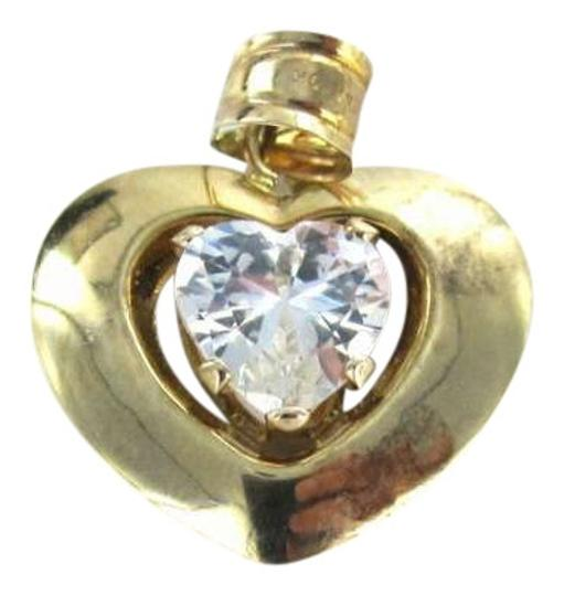 Preload https://img-static.tradesy.com/item/351474/yellow-gold-10kt-pendant-heart-love-white-stone-5dwt-jcm-jacmel-designer-charm-0-0-540-540.jpg