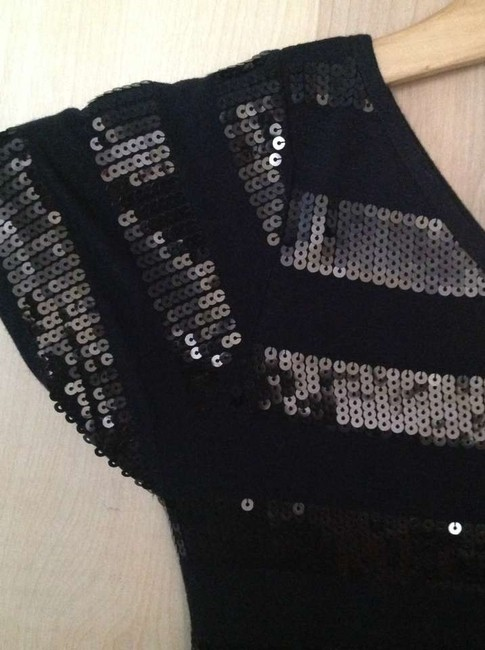 Other Holiday Party Top Black with black and silver sequins
