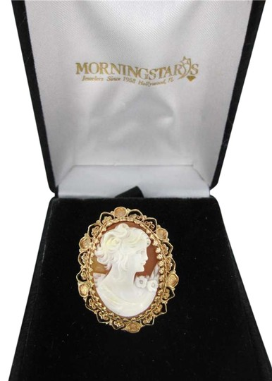Preload https://item2.tradesy.com/images/yellow-gold-14kt-cameo-pendant-filigree-carved-shell-351501-0-0.jpg?width=440&height=440