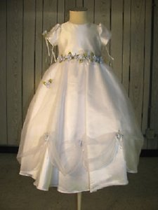 Ladybug Fashions-style 1045 Flowergirl Dress- Size 5 #168 (mr-10) Wedding Dress