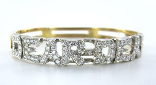 Mayor 14KT WHITE YELLOW GOLD BRACELET BANGLE MAYORS 92 DIAMOND DEAR DEAR 26.1 GRAMS