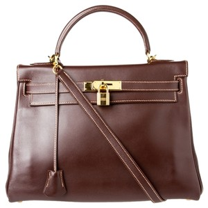 Hermès Satchel in Chocolate Brown